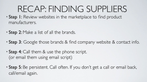 The [Secret Sauce] in finding a Dropshipping Supplier