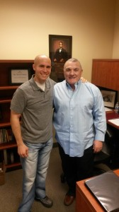 Rudy Ruettiger and Trent